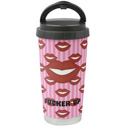 Lips (Pucker Up) Stainless Steel Travel Mug