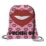 Lips (Pucker Up) Drawstring Backpack