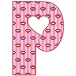 Lips (Pucker Up) Letter Decal - Custom Sized