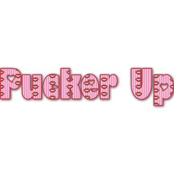 Lips (Pucker Up) Name/Text Decal - Large