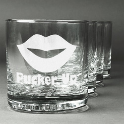 Lips (Pucker Up) Whiskey Glasses (Set of 4)