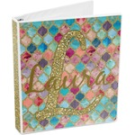 Glitter Moroccan Watercolor 3-Ring Binder (Personalized)