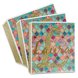 Glitter Moroccan Watercolor 3-Ring Binder