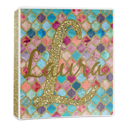 Glitter Moroccan Watercolor 3-Ring Binder - 1 inch