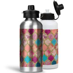 Glitter Moroccan Watercolor Water Bottles- Aluminum