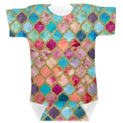 Glitter Moroccan Watercolor Baby Bodysuit (Personalized)