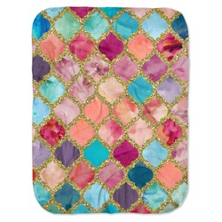 Glitter Moroccan Watercolor Baby Swaddling Blanket (Personalized)