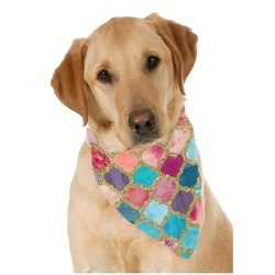 Glitter Moroccan Watercolor Pet Bandanas (Personalized)