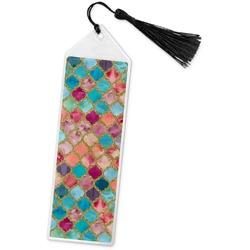 Glitter Moroccan Watercolor Book Mark w/Tassel