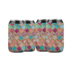 Glitter Moroccan Watercolor Can Sleeve (12 oz)
