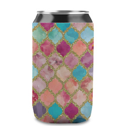 Glitter Moroccan Watercolor Can Sleeve (12 oz) (Personalized)