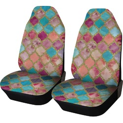 Glitter Moroccan Watercolor Car Seat Covers (Set of Two) (Personalized)
