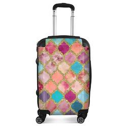 Glitter Moroccan Watercolor Suitcase (Personalized)