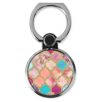 Glitter Moroccan Watercolor Cell Phone Ring Stand & Holder