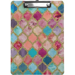 Glitter Moroccan Watercolor Clipboard (Personalized)