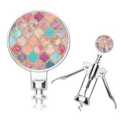 Glitter Moroccan Watercolor Corkscrew (Personalized)