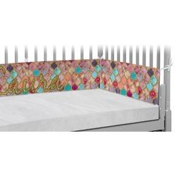 Glitter Moroccan Watercolor Crib Bumper Pads