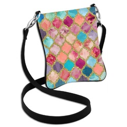 Glitter Moroccan Watercolor Cross Body Bag - 2 Sizes