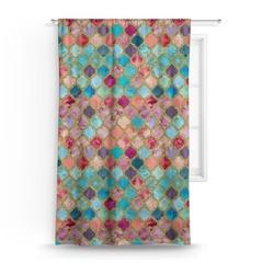 Glitter Moroccan Watercolor Curtain
