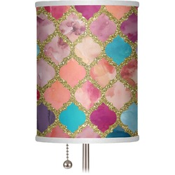 "Glitter Moroccan Watercolor 7"" Drum Lamp Shade (Personalized)"