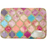 Glitter Moroccan Watercolor Dish Drying Mat (Personalized)