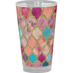 Glitter Moroccan Watercolor Drinking / Pint Glass