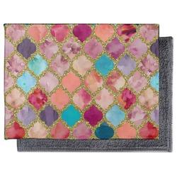Glitter Moroccan Watercolor Microfiber Screen Cleaner (Personalized)