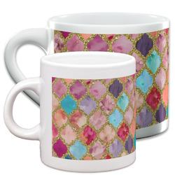 Glitter Moroccan Watercolor Espresso Cups