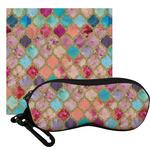 Glitter Moroccan Watercolor Eyeglass Case & Cloth