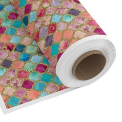 Glitter Moroccan Watercolor Custom Fabric by the Yard (Personalized)
