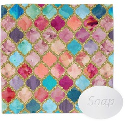 Glitter Moroccan Watercolor Wash Cloth (Personalized)