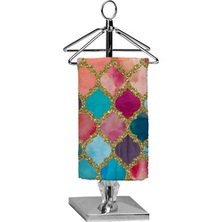 Glitter Moroccan Watercolor Finger Tip Towel - Full Print (Personalized)