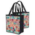 Glitter Moroccan Watercolor Grocery Bag
