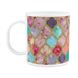 Glitter Moroccan Watercolor Plastic Kids Mug