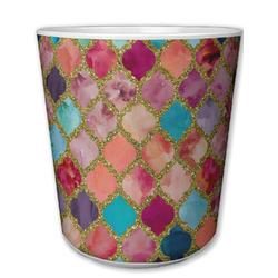 Glitter Moroccan Watercolor Plastic Tumbler 6oz