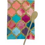 Glitter Moroccan Watercolor Kitchen Towel - Full Print (Personalized)