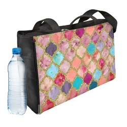 Glitter Moroccan Watercolor Ladies Workout Bag (Personalized)