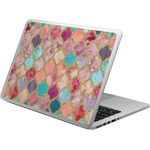 Glitter Moroccan Watercolor Laptop Skin - Custom Sized (Personalized)