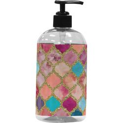 Glitter Moroccan Watercolor Plastic Soap / Lotion Dispenser (Personalized)