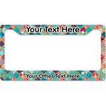 Glitter Moroccan Watercolor License Plate Frame - Style B