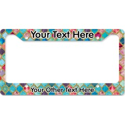 Glitter Moroccan Watercolor License Plate Frame (Personalized)