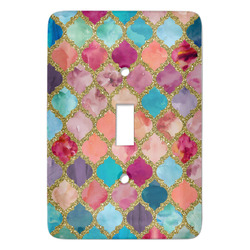 Glitter Moroccan Watercolor Light Switch Cover (Single Toggle)
