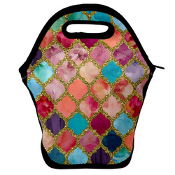 Glitter Moroccan Watercolor Lunch Bag
