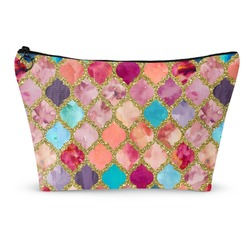 Glitter Moroccan Watercolor Makeup Bags