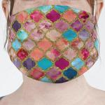 Glitter Moroccan Watercolor Face Mask Cover