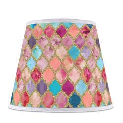 Glitter Moroccan Watercolor Empire Lamp Shade (Personalized)