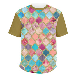Glitter Moroccan Watercolor Men's Crew T-Shirt