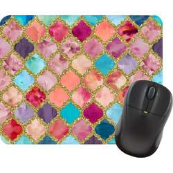 Glitter Moroccan Watercolor Mouse Pads (Personalized)