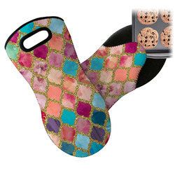 Glitter Moroccan Watercolor Neoprene Oven Mitt (Personalized)