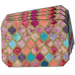Glitter Moroccan Watercolor Dining Table Mat - Octagon